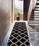 Kitchen Rugs Geometric Black Ebony 2x7 ( 2'3