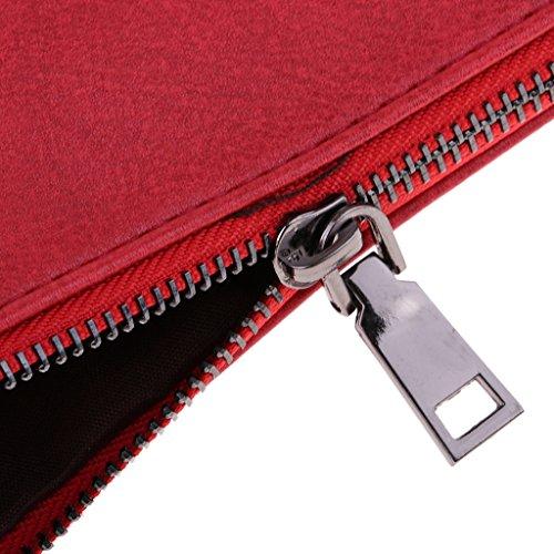 Party Daily Casual Baoblaze Red Bag Oversized Womens Wristlet Evening Handbag Clutch Purse OxTw8na