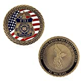 puhoon Commemorative Coin, US FBI Saint Michael Commemorative Challenge Coins Collection Token Art Craft, Valuable Coin For Commemoration, 92#