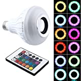 Smart Light Bulb, IDEAPRO E27 12 Watts Bluetooth Speaker Light Bulb Dimmable LED Music Bulb RGBW Colorful Lamp with Remote Control
