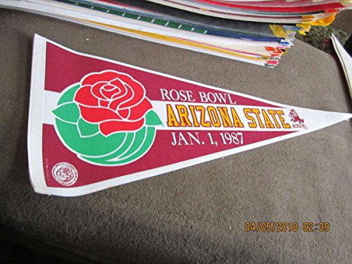 1987 Rose Bowl ASU Arizona State full Size pennant bx2 em