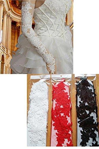 ウェディング グローブ ロンググローブ 花嫁 レース刺繍 フラワー メッシュ フィンガーレス