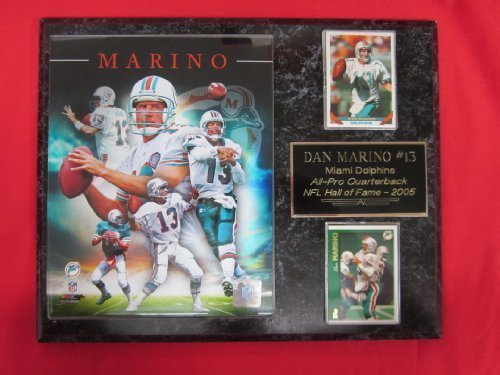 Dan Marino Miami Dolphins 2 Card Collector Plaque w/8x10 CAREER COMPOSITE - 1972 Dolphins