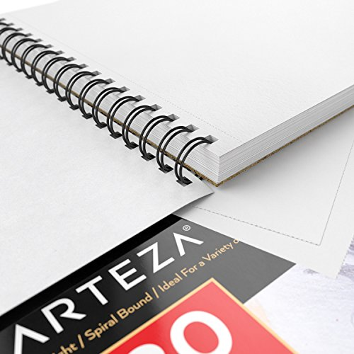 ARTEZA 9X12 Drawing Pad, Pack of 2, 160 Sheets (80lb/130g), Spiral Bound Artist Drawing Books, 80 Sheets Each, Durable Acid Free Drawing Paper, Ideal for Kids & Adults, Bright White by ARTEZA (Image #1)