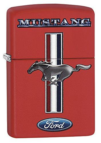 (Zippo Ford Mustang Petrol Lighter-Brass, Stainless Steel 1x 6x 6cm)