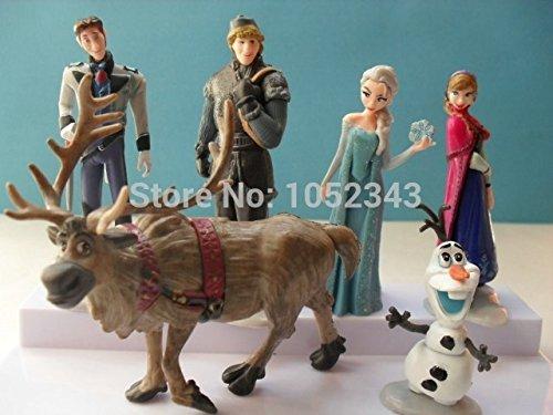 6pcs/set Frozen Elsa Anna Hans Kristoff Sven Olaf action Figures Toys Doll Birthday Christmas gift for kids