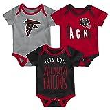 NFL by Outerstuff NFL Atlanta Falcons Newborn & Infant Little Tailgater Short Sleeve Bodysuit Set Crimson, 12 Months