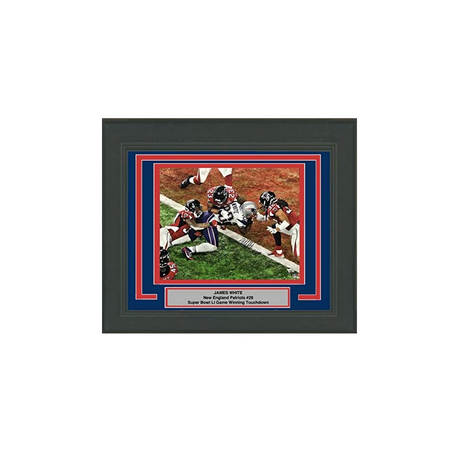 Framed Autographed/Signed James White Super Bowl 51 GW TD New England Patriots 16x20 Football Photo Fanatics COA