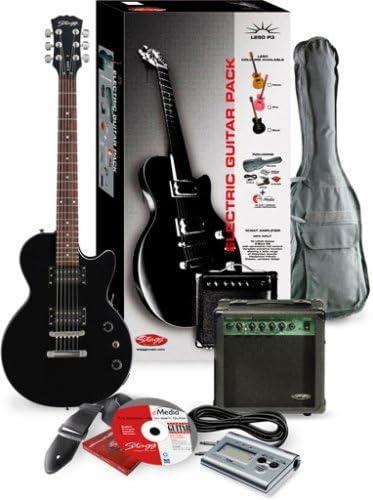 Stagg – Guitarra eléctrica Set L250 de BK P3: Amazon.es ...