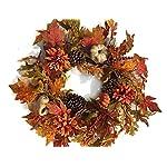 Autumn-Treasures-21-22-Inch-Decorative-Fall-Door-Wreath-with-Pumpkins-Gourds-Orange-Flowers-Pine-Cones-Oak-and-Maple-Leaves-Seasonal-Autumn-Home-Decor