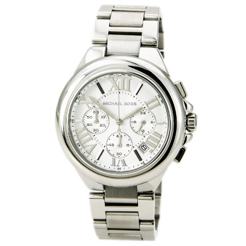 Michael Kors MK5719 Women's Chronograph Camille Stainless Steel Bracelet Silver Watch by Michael Kors