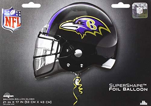 Anagram 26283 NFL Baltimore Ravens Football Helmet Foil Balloon, 21