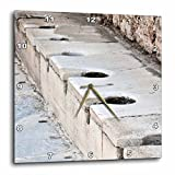 3dRose dpp_51711_2 Scholastica Baths-Latrines, Toilets, Ephesus, Roman Ruins, Ruins, Public Toilets, Bathroom-Wall Clock, 13 by 13-Inch Review