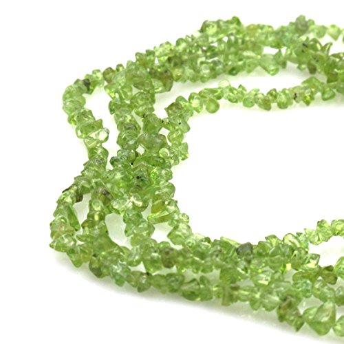 (BRCbeads Nice Green Peridot Chips Beads 3~5mm 34 Inches per strand For Jewelery Making)
