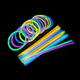 SF.Z Glow sticks, 100 Light Stick Fluorescent Light Glow Bracelets Fluorescent sticks, Glow Stick Bracelets Chemical Light Sticks Light up Toys for Party, Night Game and Music Festival