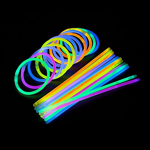 Glow-Sticks-Bulk-300-Count-8-PartySticks-Brand-Premium-Glow-In-The-Dark-Light-Sticks-Makes-Tons-of-Glow-Necklaces-and-Glow-Bracelets-3-Tubes-of-100