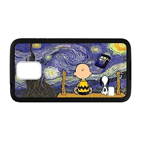 Personalized Cute Cartoon Peanuts Snoopy The Starry Night SamSung Galaxy S5 Protective Case (Laser (Snoopy S5 Case)