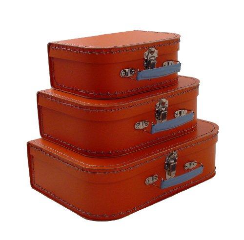 cargo Vintage Travelers Mini Suitcases, Set of 3, Orange