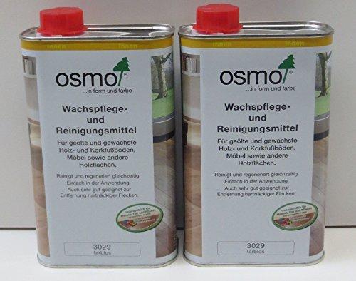 OSMO Spar-Set Set Wachspflege- und Reinigungsmittel natur Pflege 2x 1000 ml by Geizhaus24