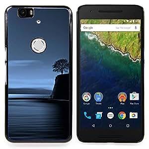 Stuss Case / Funda Carcasa protectora - Lonely Tree Blue Ocean Noche Profunda - Huawei Google Nexus 6P