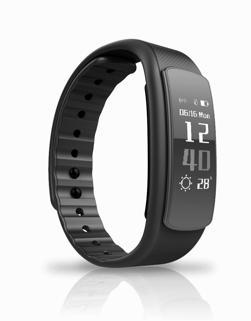 fitness watches tracker screen watch touch wristband smart bracelet black sku p