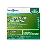 Basic Care Allergy Relief Nasal Spray, Fluticasone Propionate (Glucocorticoid) 50 Mcg per Spray, 3 Bottles – 120 Metered Sprays 0.54 FL oz Each