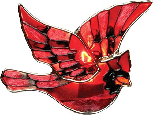 Red Cardinal Bird Night Light Stained - Glasses Louis
