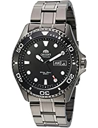 Men's 'Ray Raven II' Japanese Automatic Stainless Steel Casual Watch, Color:Black (Model: FAA02003B9)