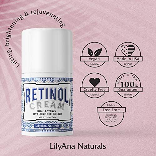 LilyAna Naturals Retinol Cream for Face – Made in USA, Retinol Cream, Anti Aging Cream, Retinol Moisturizer for Face and…
