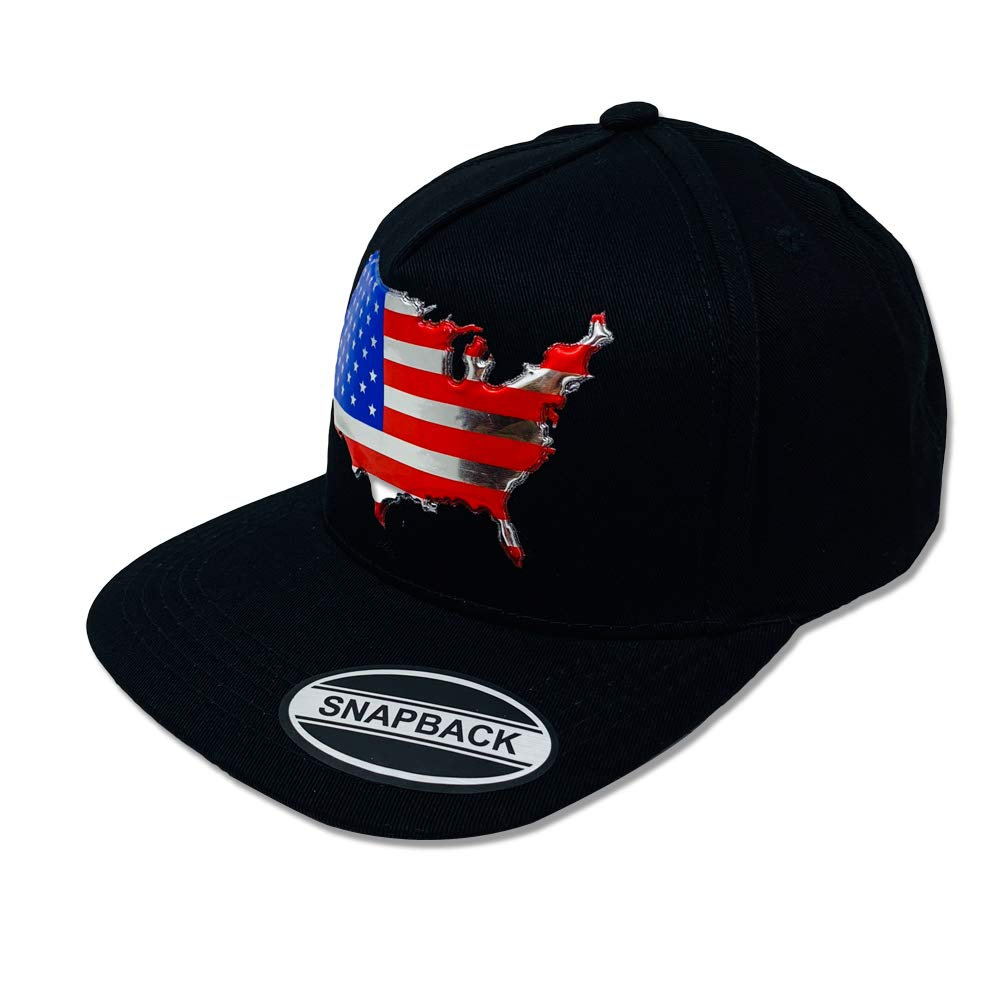 GREAT CAP US MAP Snapback - Classic US MAP Design 3D Embossed Logo Baseball  Cap Size Adjustable Fahsionable Daily Outdoor Hat - Embossed US Map - Black  at ... a8b1c734d2b