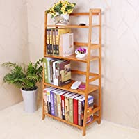 Yi Hai Ladder BookShelf Bamboo Book Rck (4-Tier)