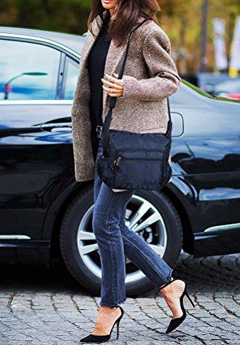 Suvelle Lightweight Hobo Travel Everyday Crossbody Bag Multi Pocket Shoulder Handbag 9020 by SUVELLÉ (Image #2)