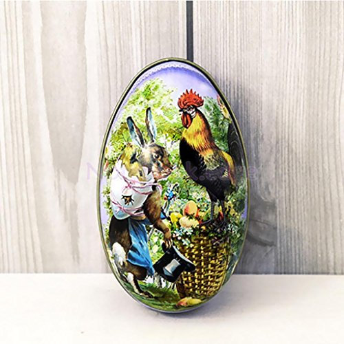 Metal Easter Festival Egg Gadget Gift Storage Candy Box Case