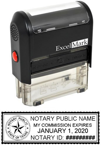 ExcelMark Self Inking Notary Stamp - Texas