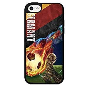 Yellow, Red, and Black Germany Fan Art with Colorful Fiery Soccer Ball Hard Snap on Phone Case (iPhone 5c) by icecream design