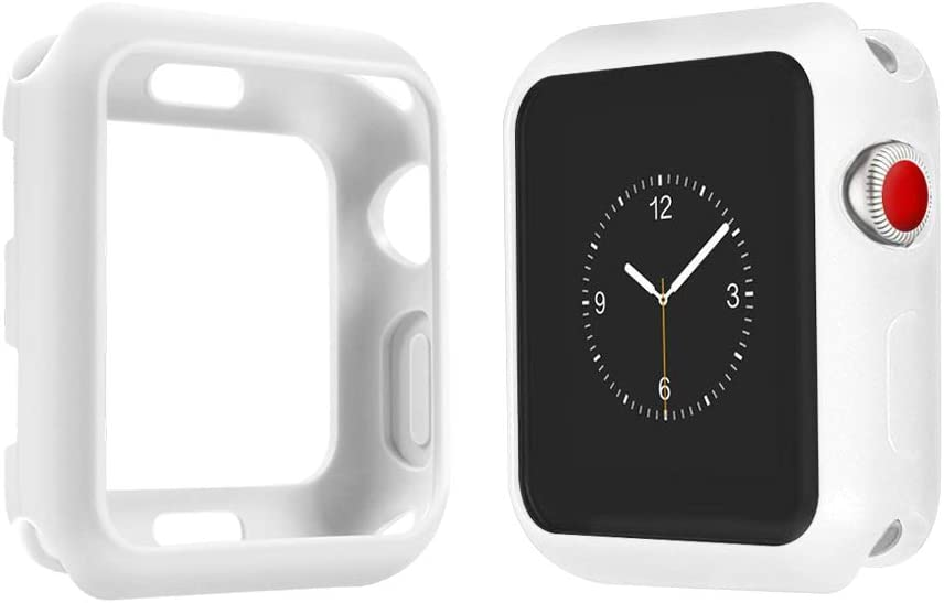 top4cus Environmental Soft Flexible TPU Anti-Scratch Lightweight Protective 38mm Iwatch Case Compatible Apple Watch Series 5 Series 4 Series 3 Series 2 Series 1 Matte Style - Matte White
