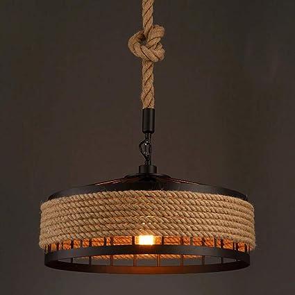Lámpara De Viento Industrial 1 Luz Vintage Cáñamo Cuerda ...