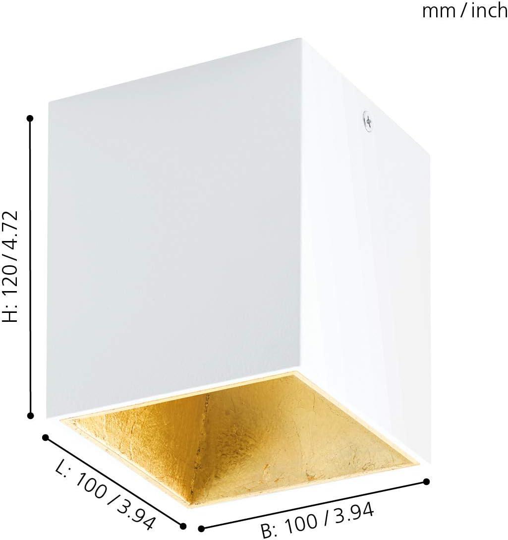 Aluminium Plastic Black 4 W Integriert Copper EGLO Wall//Ceiling Lamp