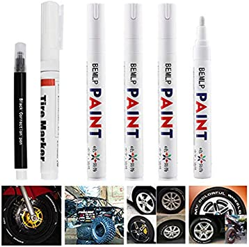 Permanent BLACK Oil Based Paint Pen Car Bike Tyre Tire Metal Marker Waterproof