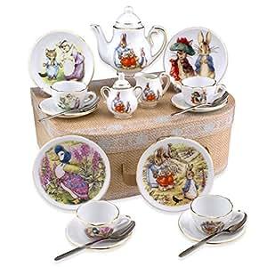 Amazon Com Beatrix Potter Tea Set Peter Rabbit Amp Friends