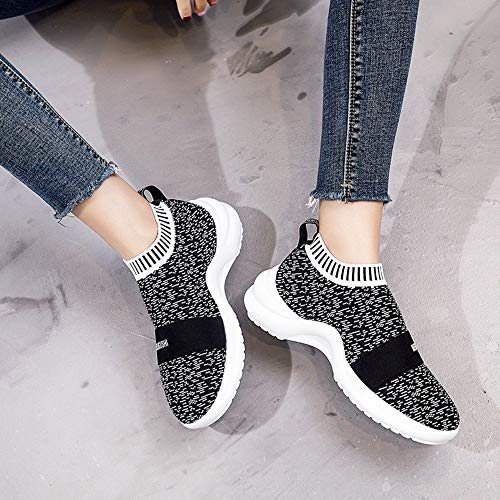 Black Knitted Sports Bottom Style Joker New Leisure Shoes Sponge Cake XINGMU 5WxnvqFW