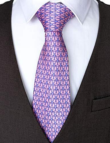 100% Silk Ties for Men Handmade Neckties with Lobsters Printed+Gift box