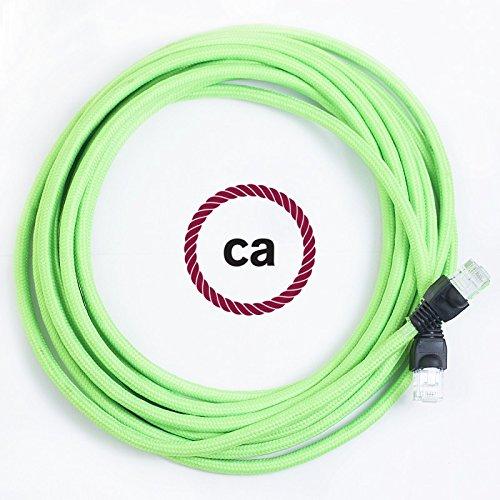 Cavo Lan Ethernet Cat 5e con connettori RJ45 - RF06 Effetto Seta Verde Fluo  - 10 Metri  Amazon.it  Illuminazione 1661d5076c91