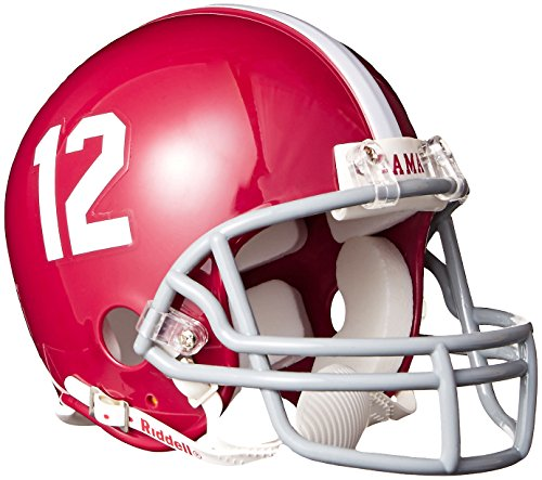 - Riddell NCAA Alabama Crimson Tide Replica Mini Football Helmet