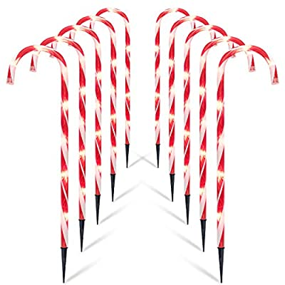 Brightown Christmas Candy Cane Lights, 10 Pack 27