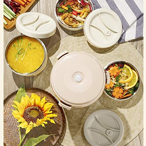 絶縁食品Flask2000ml真空ステンレスフードジャー、赤ん坊、学生、大人のためのカトラリーとサーモスバッグとホットとコールドストレージフードランチボックス