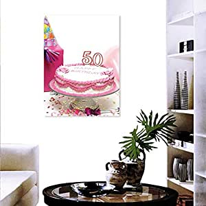Image Unavailable Not Available For Color Anyangeight 50th Birthday Decorate Stickers Wall