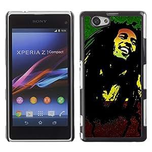 YiPhone /// Prima de resorte delgada de la cubierta del caso de Shell Armor - Jamaica Reggae Music Rasta Weed - Sony Xperia Z1 Compact D5503
