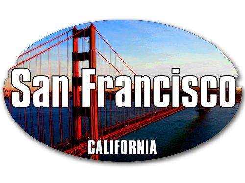 Oval San Francisco GOLDEN GATE BRIDGE Sticker (decal)