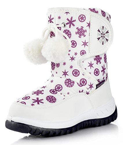 Nova Mountain Little Kid's Winter Snow Boots,NF NFWB737 White 6
